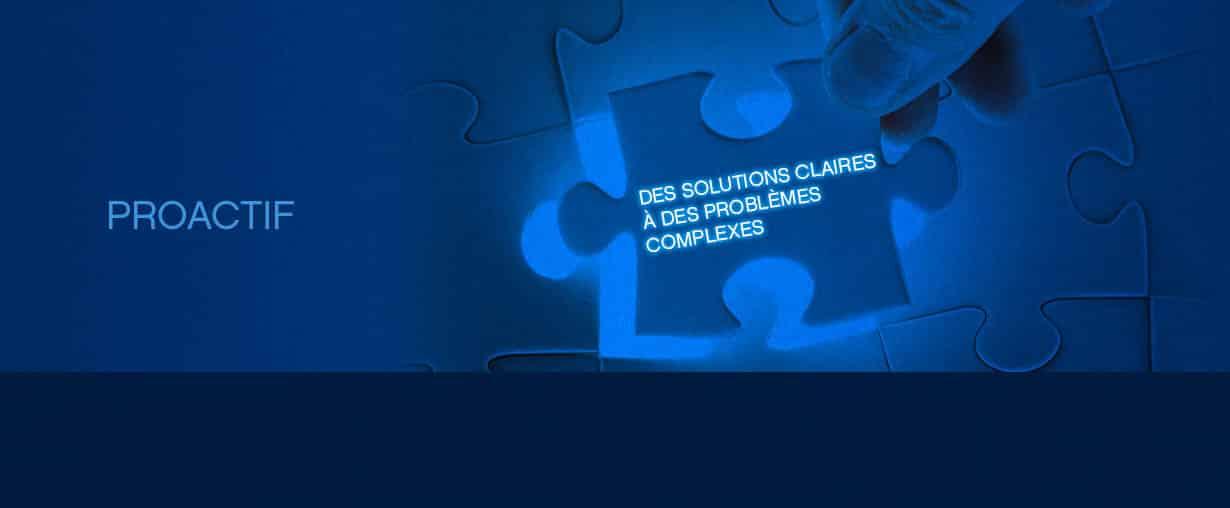 Lorsqu'un client nous consulte pour un problème, nous visons à fournir la meilleure solution possible. Si nous voyons d'autres manières de faire qui peuvent vous éviter des problèmes futurs  ou des coûts additionnels, nous le portons à votre attention.